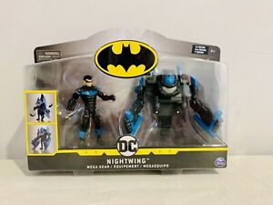 NIGHTWING  MEGA GEAR 1st Edition by Spin Master 1:18 Scale 4 In Batman DC Comics