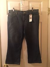Polo Jeans Ralph Lauren Juniors Capri Pants 13/14 New Medium Wash