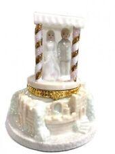 Porcelain Jewish Wedding Hinge Box / Wedding Cake Topper