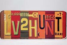 Big Sky Carvers -Magnet 'Love To 2 Hunt' Vanity Plate #B5050114 NEW Retired!