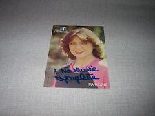 MARYLENE BERGMANN CARTE POSTALE RTL DEDICACE 3