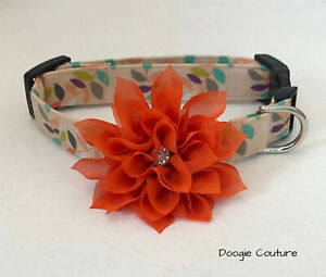 Autumn Song Dog Collar Size XS-L by Doogie Couture