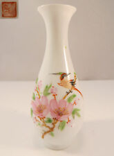 Chinese Eggshell Porcelain Mini Vase Famille Rose Bird & Flowers China (3 of 4)