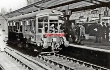 PHOTO  1954 DERBY LIGHT-WEIGHT TWO-CAR DIESEL UNIT AT SUNDERLAND ON TRIAL  VIEW