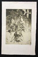 Horst Janssen, in sich selbst verliebt, Radierung, 1983, handsigniert
