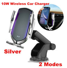 Automatic 360° Qi Wireless Car Charging Charger Mount Clamping Phone Holder 10W