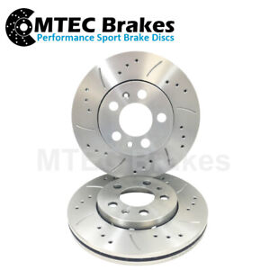 Saab 9-3 1.8 Turbo 2002- Front Brake Discs Drilled Grooved 285mm