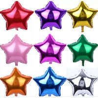 10Pc Five-pointed Star Foil Balloon Inflatable Hydrogen Self Sealing Party Decor