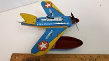 1960's OHIO ART Float Plane - Windup Works and Floats! Good Condition