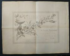Diplôme de Felibre Mantenèire signature Frederic Mistral - Marius Bourrelly