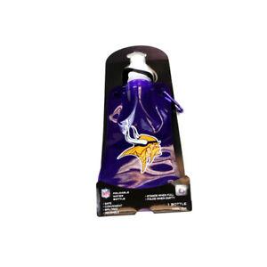 Two (2) NFL Minnesota Vikings Foldable 16 oz Water Bottles