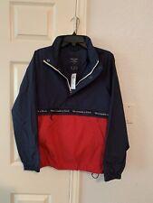 Abercrombie&Fitch Men Anorak Windbreaker Small S Navy/Red Top Zippier Jacket New