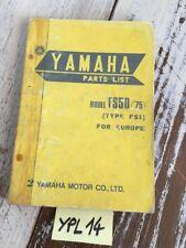 Yamaha FS50 1975 FS1 50 Fizzy Katalog Teile Ersatzteil Teile Liste Motorrad