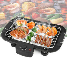 Electric BBQ Grill Teppanyaki Non Stick Barbeque Griddle Smokeless Hot Plate