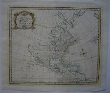 North America Nordamerika Kontinentkarte kolor Orig Kupferstichkarte Gibson 1763
