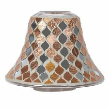 Aromatize Candle Jar Lamp Shade Copper Mirrored Mosaic 16cm