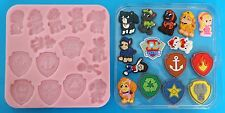 NEW PAW PATROL INSPIRED SILICONE MOULD FOR CAKE TOPPERS, CHOCOLATE, CLAY ETC
