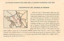 2122) WW1 MARINA, FORZAMENTO DEL CANALE DI FASANA (FAZANA, CROAZIA).