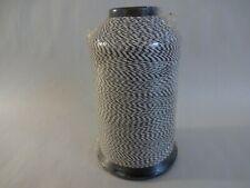 "Rod Building Wrapping Holland Size ""D"" Nylon White/Black 4oz spool thread"