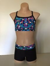 Crop Top and Short Set - Girl Sizes - dance, gymnastics, cheer, active wear