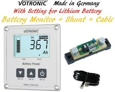 Votronic Dual Battery Monitor Gauge Meter RV Marine Boat Solar LiFePo4 Lithium