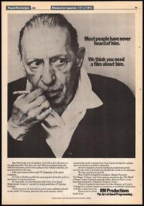 IGOR STRAVINSKY__Orig. 1982 Trade AD promo / poster__The Rite of Spring_composer