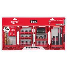 MILWAUKEE 48-32-4015 SHOCKWAVE 60 PIECE IMPACT DUTY STEEL DRIVER DRILL BIT SET