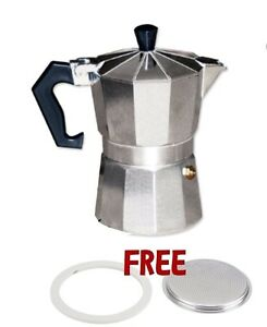 Cuban  Coffee Maker Espresso  1 Cup Aluminum Construction