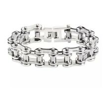 mens stainless steel biker Chain Bracelet
