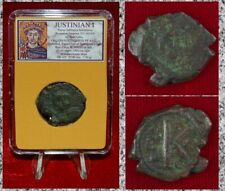 Ancient Byzantine Empire Coin JUSTINIAN I Constantinople Mint Bronze