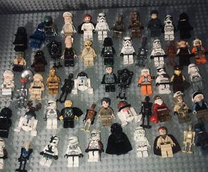 LEGO Lot 50+ StarWars Minifigures Troopers Droids Luke Darth Han Solo Saber/Guns