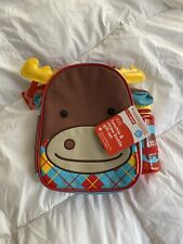 Nwt Skip Hop Zoo Moose Lunchbox Straw Bottle Kids Pack Gift Set Lunchie School
