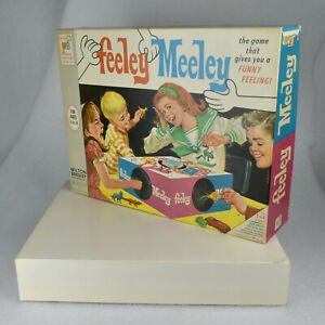 VTG Feeley Meeley OUTER BOX ONLY Game Replacement Part Milton Bradley 1967