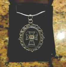 "Sigma Chi Fraternity Laser Engraved Silver Sweetheart Badge Pendant W/18"" Chain"