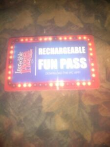 Incredible Pizza Company * Game Card * Credit's 20