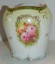 Antique Rosenthal Vase / Bowl / Jar - Rose Decor - IRIS Mark