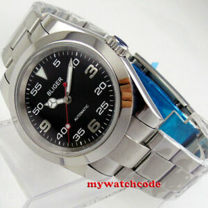 40mm BLIGER black dial NH35A miyota 8215 sapphire glass automatic mens watch