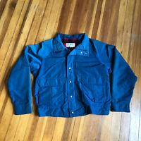 Vintage LL Bean Baxter State Parka Flannel Wool Lined Jacket Sz M - No Hood