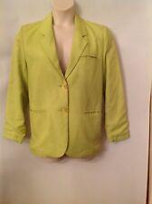 Ladies Light Lime Green Summer jacket 14/16, Promod, Linen mix. GUC.