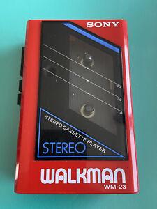 sony walkman wm-23 Red Refurbished works excellent