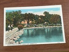 "GENEVA NEW YORK ""SENECA LAKE-BATHING BEACH AT OUTLET""  POSTCARD"