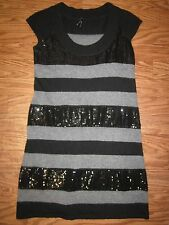 Lapis Sequine/Angora/Wool Cap Sleeve Sweaterdress *Women M **NWOT**