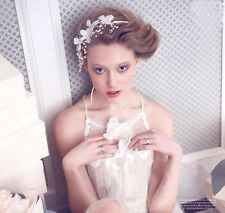FLORAL CROWN Bridal Headband Pearl White Flowers Lady Hair Accessory Racing Cup