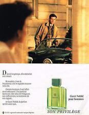 PUBLICITE ADVERTISING 064  1988  GUCCI  NOBILE  parfum homme