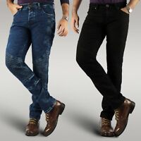 Men's motorbike motorcycle stretch denim jeans protective aramid slim fit pants