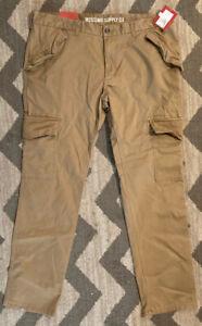 Men's Dark Khaki Cargo Stretch Pants Size 38x32 by Mossimo Supply Co. - NEW NWT
