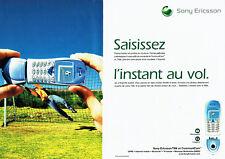 Publicité Advertising 088   2002  mobile Sony Ericsson T68i  communi Cam (2pages