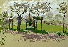 JULIE ELSBETH VON PAUL - Garten in Hosterwitz bei Pillnitz - Gouache um 1920
