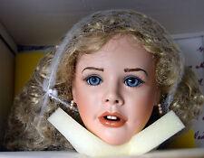 "NIB 30"" Bisque Porcelain Blonde Girl Best Dressed Doll BLOSSOM Gwen McNeill LE"