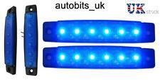 2 x 12V LED BLU Indicatore Laterale Luce CAMION RIMORCHIO AUTOCARRO CHASSIS TRANSPORTER
